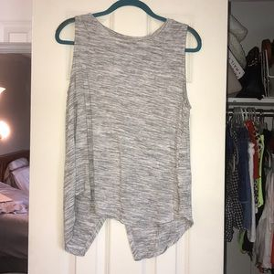 Split back sleeveless top